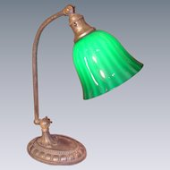 Signed Bellova/Emeralite Desk Lamp