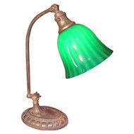 Signed Bellova/Emeralite Desk Lamp