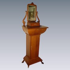 Monumental Quartersawn Oak Shaving Cabinet