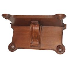 Carved Oak Clock Shelf