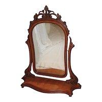 Large quartersawn oak dresser mirror