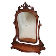 Large quartersawn oak dresser mirror