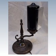 Small Rare Form Emeralite Piano Lamp