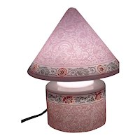Pink Etched Bellova Gnome Lamp