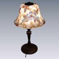 Bellova Lamp with Floral  Painted  Shade