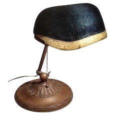 Emeralite Desk Lamp with Rare Colored Shade