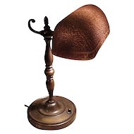 Attractive Etched Emeralite #7 Desk Lamp