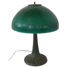 Large Etched Shade Table Lamp