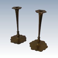 Pair of Fancy B&H  Brass Candlesticks