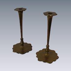 Pair of Fancy B&H  Brass Candlesticks