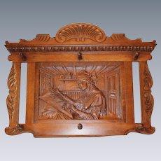 Large R.J.Horner Carved Oak Wall Mounted Hat/Coat Rack