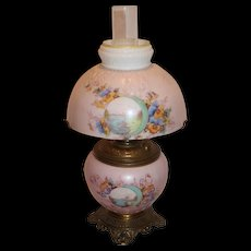 Small Gone with the Wind Kerosene Banquet Lamp ~ Original Condition ~Original Parts