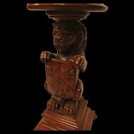 Extraordinary Carved Lion Plant Stand