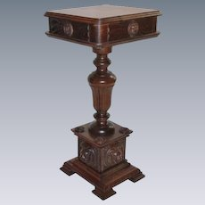 Great Lion Carved Oak plant Stand