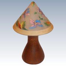 Wonderful Heavily Cutback Bellova Lamp with Quartersawn Oak Base
