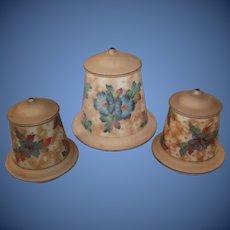 Three Wonderful Floral Painted Bellova Shades