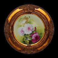 OUTSTANDING  Late 1800's Antique Hand Painted LRL Limoges Charger ~ Outstanding Roses~ Collector Piece ~ Master Artistry