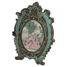 Antique National Brass & Iron Works American Victorian Rococo Brass Ornate Picture Frame ~ Circa 1890's~ made by the National Brass & Iron Works (N.B&I.W.) of Reading, PA.