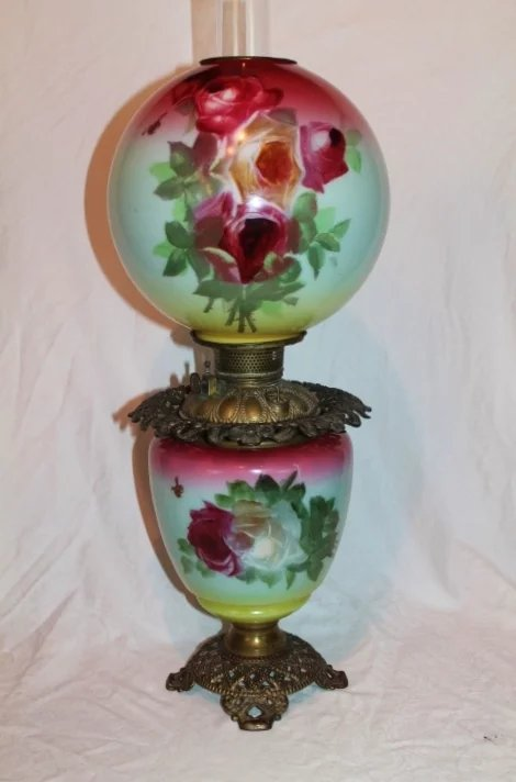 Outstanding Gone With The Wind Kerosene Banquet Lamp