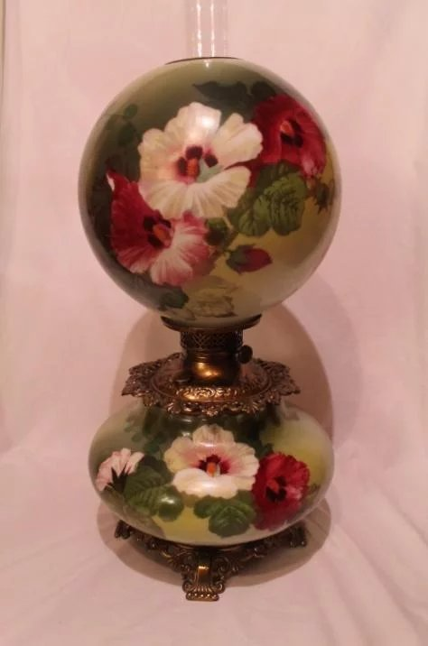"Bill Of Sale Example >> LARGE Gone with the Wind Oil Lamp ~RARE 11"" SHADE ..."