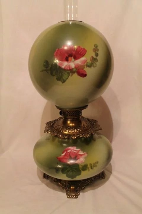Large Gone With The Wind Oil Lamp Rare 11 Quot Shade