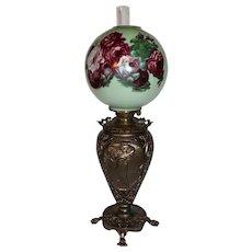 VERY RARE Pittsburgh (P L&B Co.) Banquet Lamp ~ Original Shade~ Original Oil Burning Condition ~Original Parts