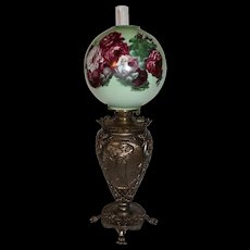 VERY RARE Pittsburgh (P L&B Co.) Banquet Lamp ~ Old Original Shade~ Original Oil Burning Condition ~Original Parts