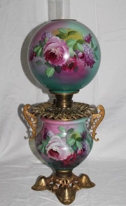 Bill Of Sale Example >> Outstanding Gone with the Wind Oil Lamp ~RARE Masterpiece ...
