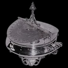 VERY RARE Wilcox Aesthetic Victorian Mechanical Quadruple Silver Plated Victorian Dresser or Server~ Circa 1890's