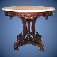Wow Outstanding 1850 S Rococo Rosewood Victorian Center