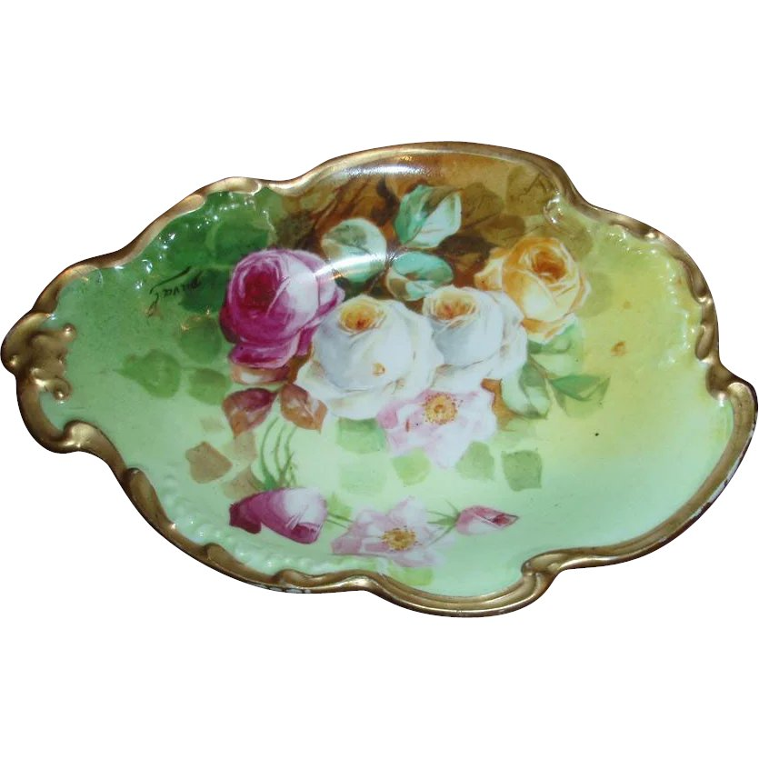 Hand Painted Porcelain Candy Dish