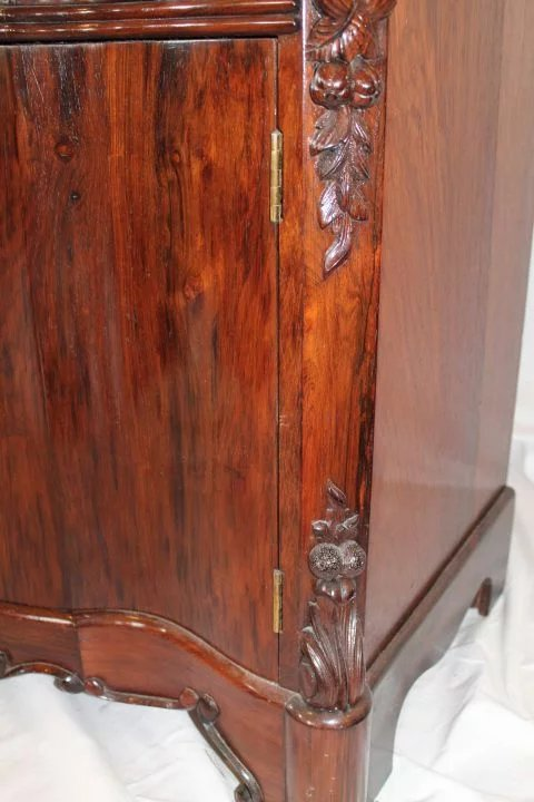 Outstanding Rare 1860 S American Rococo Rosewood Full B