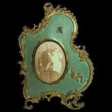 Rare Outstanding c 1880's Brass Photo Frame
