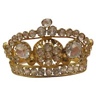 Exquisite Antique Jeweled Crown for Religious Figure or Antique Doll