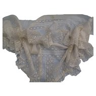 Lovely Antique Lace Flounce for Doll Dressing