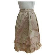 Pristine Mid 19th century Iridescent Silk Taffeta Apron for Large Early French Fashion OR Little Girl!