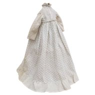 Lovely, CHARMING Early Cotton Calico Dress for Cloth, China or Paper Mache Antique Doll