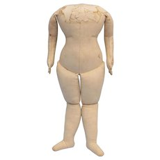 Exceptional Cloth Body for China or Paper Mache Antique Doll