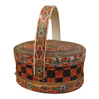 Very Precious Antique Litho Paper Box Candy Container