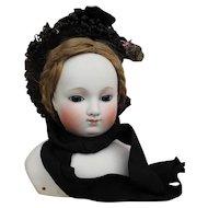 """Elegant 19th c, Bonnet for 19"""" - 24"""" Bebe or Large Fashion Doll"""