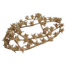 Antique Edwardian Wax Flower Wedding Head Piece