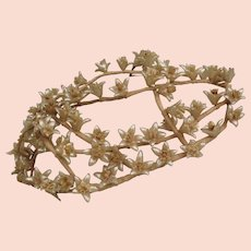 Antique Edwardian Wax Flower Wedding Head Piece