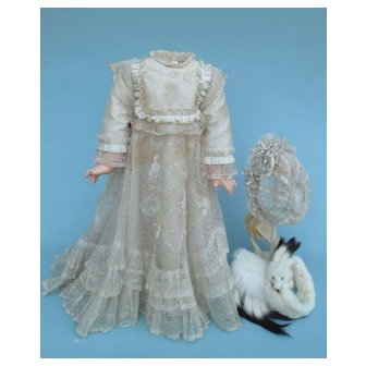 Exquisite 19th c, Bebe Gown Ensemble