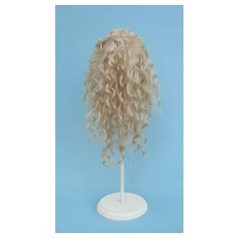Exceptional and VERY Hard to Find  - Pale Blonde Mohair Extension Wig for Cabinet Size Bebe