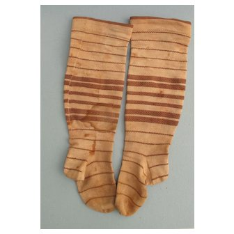 Early 19 th c. Stockings  for Large Cloth China or Paper Mache