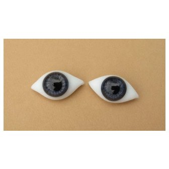 Hard to Find! LARGE Early Antique French Blue Paperweight Eyes