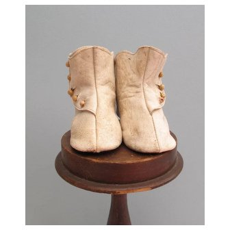 HTF Large Leather Doll Boots