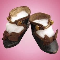 Wonderful Antique Tiny Eden Bebe Shoes