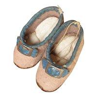 Early 1850 - 1860 Huret Type Woolen Slippers