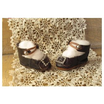 Precious Size 2 French Leather Bebe Shoes